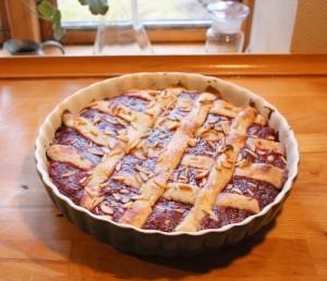Hindbærtærte, til 8 pers.