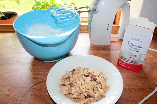 crunch til æblekage