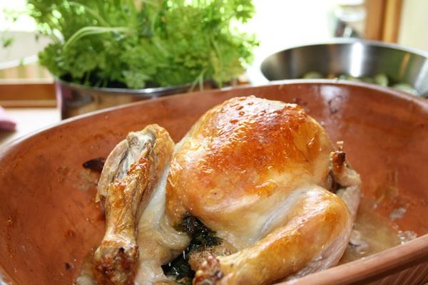 stegt hel kylling