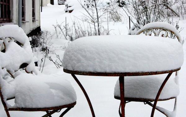Snevejr herude på landet