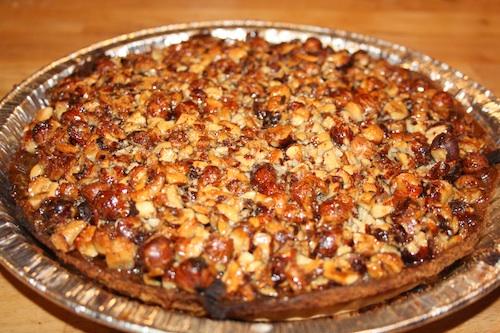 Nødde tærte med mazarin, 2 stk.