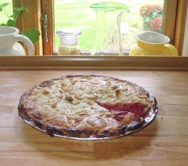 Pie med hindbær