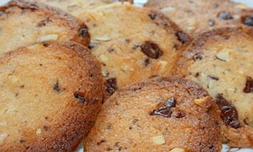 Nødde/chokolade småkager