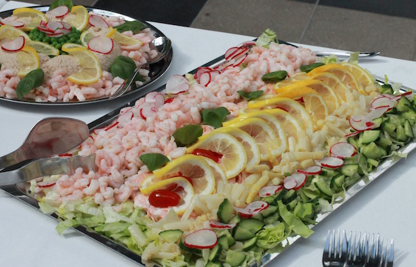 Lækker fiske-menu til 100 pers.