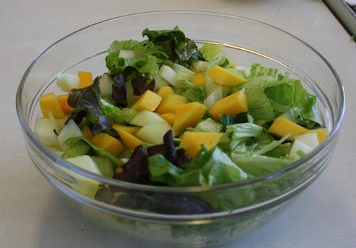 Salat med avocado og melon